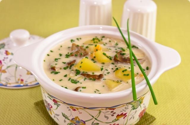 Сырный суп с белыми грибами H2naO